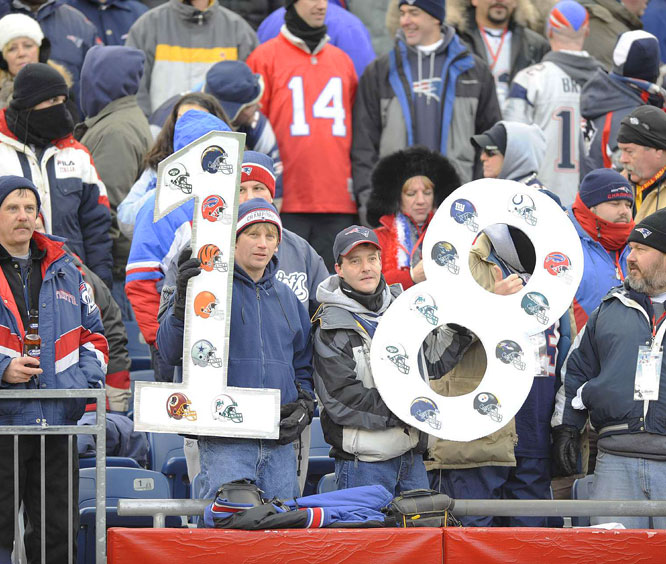 Fans on hand for the Patriots AFC Championship game victory over the Chargers.