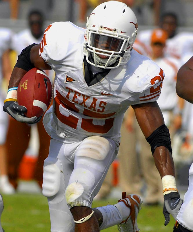 The Longhorns sprint champion is learning to translate his track and field speed onto the football field.  He does not possess a complete game yet, but is solid second-round material.