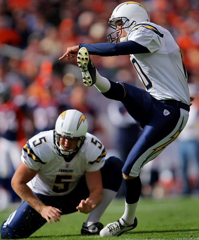 Which Nate Kaeding will show up Sunday? The one who is among the NFL's most accurate kickers during the regular season, or the one who has hit just one of three postseason field-goal attempts. Kaeding is nursing a deep bone bruise and probably won't kick off. But the Chargers need their kicker to bring his A game if they hope to advance.
