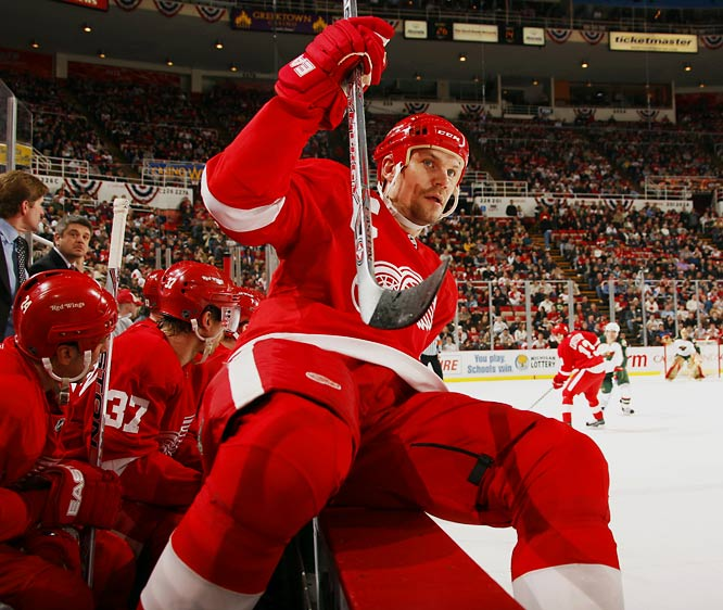 When you've earned the respect of every man in the room, your volume knob doesn't need to go to 11. Lidstrom sets the emotional tempo of hockey's best team in a manner reminiscent of Jean Beliveau.