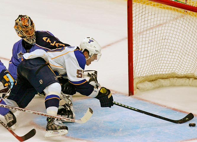 A testament to pluck and perseverance, Perron, 19, was passed over in his first year of NHL Draft eligibility before being taken by the Blues 26th overall in 2007. Though undersized (6', 180), he's exhibited considerable craft with the puck as well as formidable smarts. An impressive plus-10, Perron will skate for the Western YoungStars.