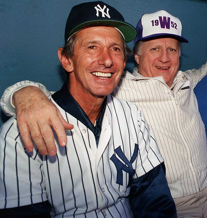 "At some point, it stopped being surprising. All told, Steinbrenner hired Martin five times to manage the Yankees. During his third stint as skipper, Martin said, ""All I know is, I pass people on the street these days and they don't know whether to say hello or goodbye."""