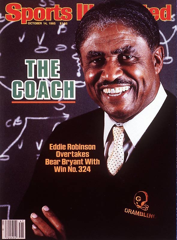 Robinson spent 56 years as Grambling State University's football coach, amassing a 408-165-15 career record, making him the winningest coach in college football history.