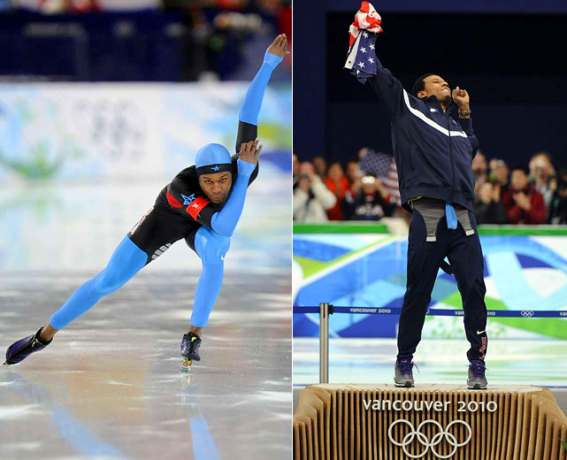 The Olympic speedskater has won two gold medals in the 1,000 meters (2010, 2006), becoming the first male skater to win the event a second time at the Winter Games. His 2006 victory in Turin, Italy, made him the first African-American athlete to win an individual gold at the Winter Games.