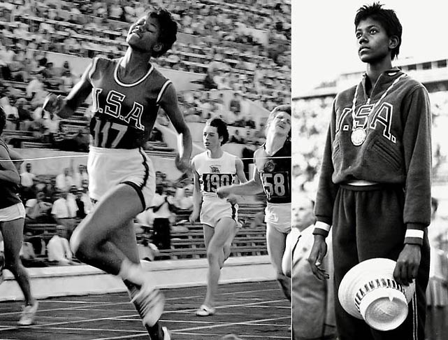 After overcoming polio at a young age, Rudolph initially built her name around her basketball talents but soon became the first American woman to win three gold medals at the 1960 Olympics in Rome, taking the 100- and 200-meters, as well as the 400-meter relay.
