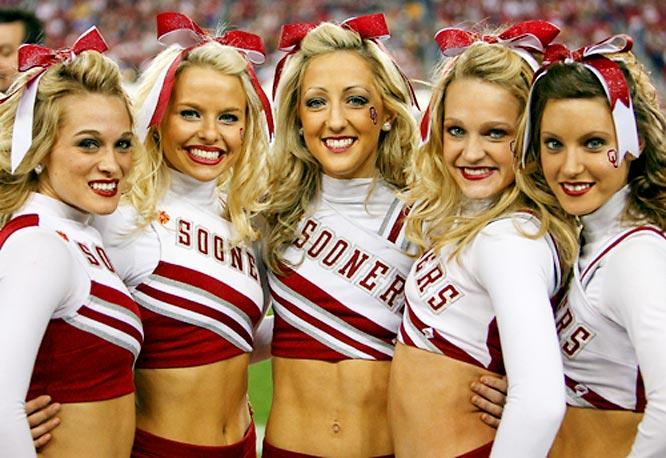 Image result for university of oklahoma cheerleading
