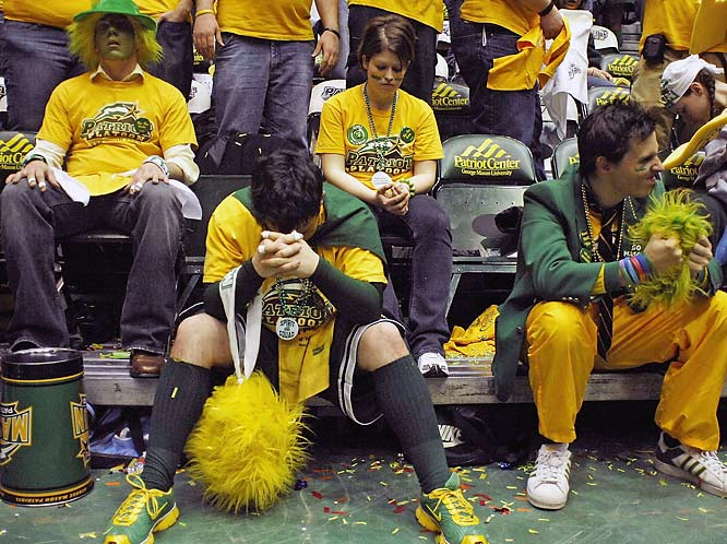 These George Mason students are taking last Saturday's loss to UNC-Wilmington a little too hard.
