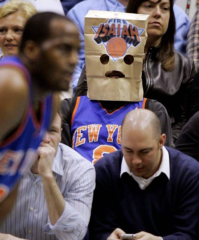 The brown paper bag isn't just enough for Knicks fans. Things are so bad, they now have to decorate them.