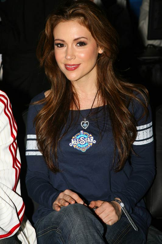 There isn't an All-Star game that Alyssa Milano doesn't like.