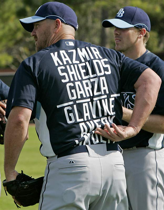 Tampa Bay Rays pitcher Troy Percival shows that spring training really is the time to dream big.