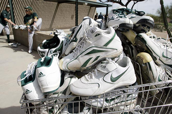 Since the A's like to cut payroll as much as possible, they're gonna try to play this season without cleats in order to save money.