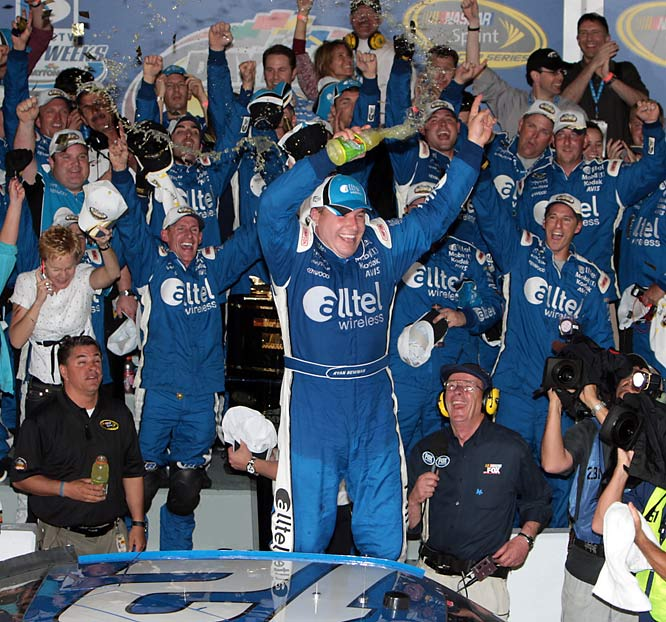 Smiling from ear to ear, Daytona 500 champ Ryan Newman celebrated the biggest win of his career.