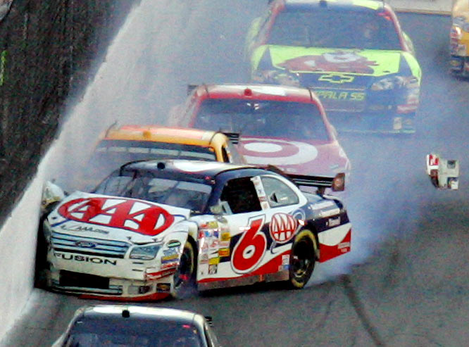 David Ragan's dreams of capturing his first Daytona 500 title quickly evaporated after he hit the wall. Ragan finished 42nd.