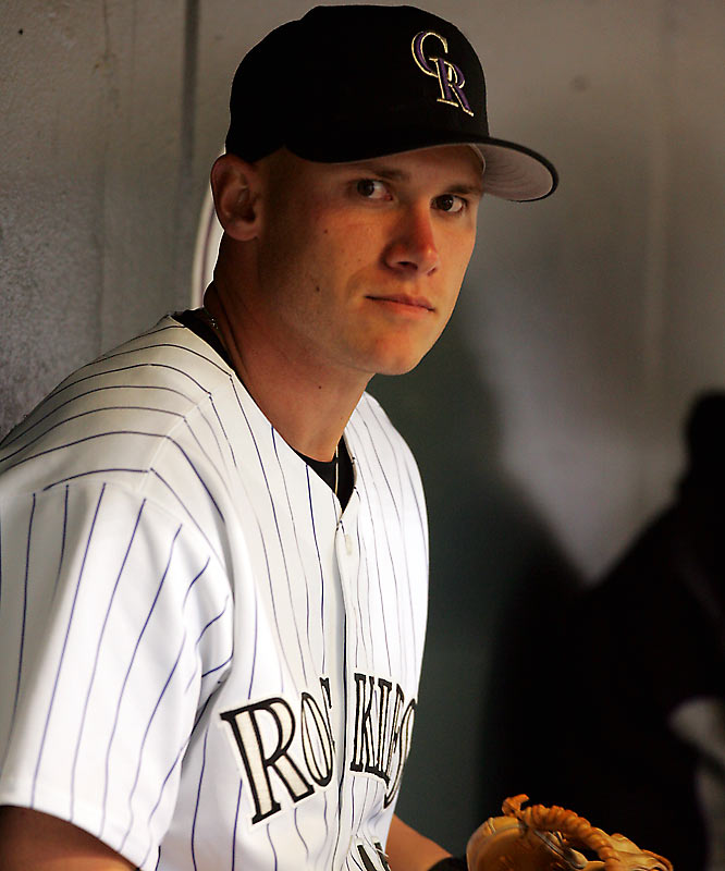 The 2005 NL Rookie of the Year candidate short-circuited his season, and ultimately his career, by taking a tumble on a flight of stairs while carrying groceries. Barmes, who injured his left shoulder, later admitted he was actually hauling a slab of deer meat procured while hunting with teammate Todd Helton.