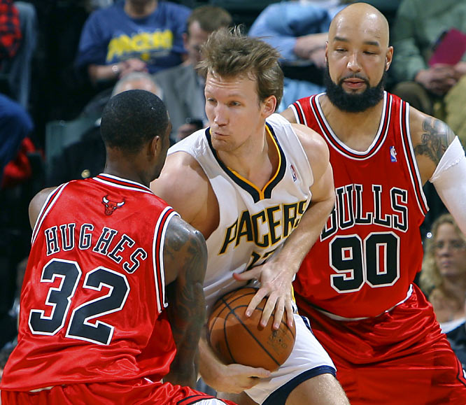 The Bulls essentially traded their own free-agent mistake (Ben Wallace) for Cleveland's (Hughes) as part of that 11-player deal. A change of scenery could only help Hughes, who dealt with injuries and struggled to fit alongside LeBron James in his 21/2 seasons in Cleveland. With Hughes, Kirk Hinrich and Ben Gordon, the Bulls have some competition for minutes in the backcourt as they pursue a playoff spot. Gooden (far right), meanwhile, will give the Bulls a bit of the interior scoring they've been lacking, but his bread-and-butter is hitting the glass.