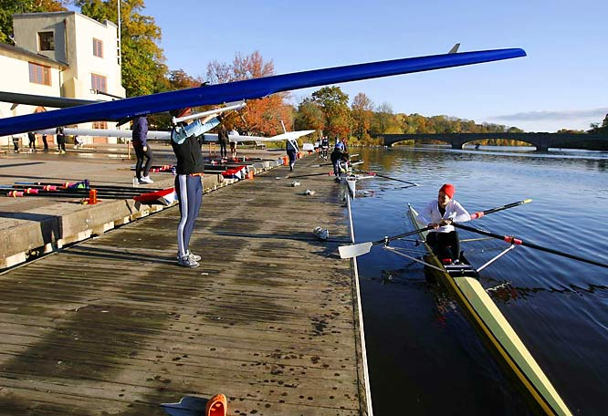 The Ivy League college town is an academia's paradise and a rower's haven. Princetonians love their Olympic rowers, allowing them to train on Lake Carnegie and Lake Mercer year-round, and subsidizing their housing, food and medical care.