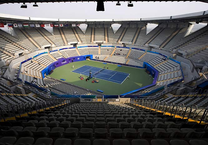 The Green Tennis Center in Beijing held a test tournament in October.