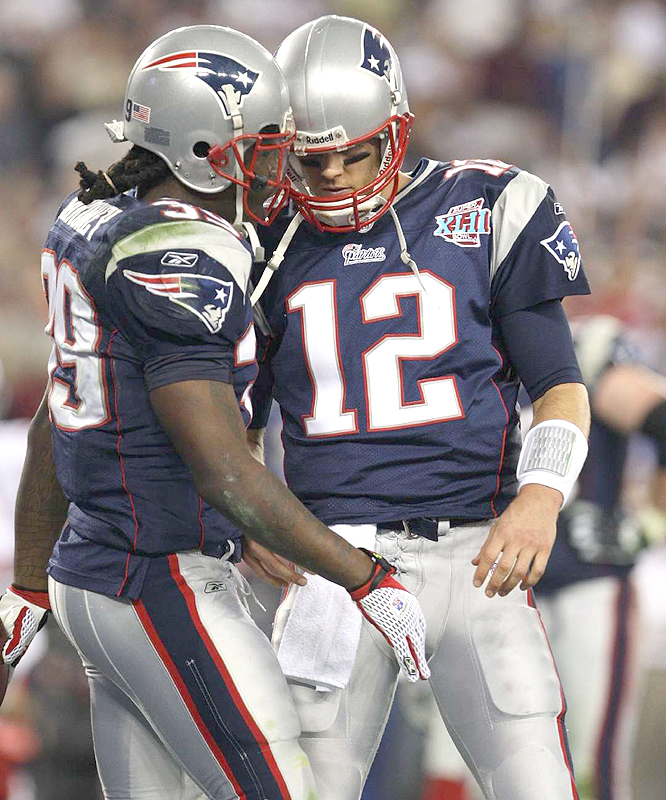 The Patriots, who set an NFL single-season record for most points in the regular season, were held to 81 first-half yards.