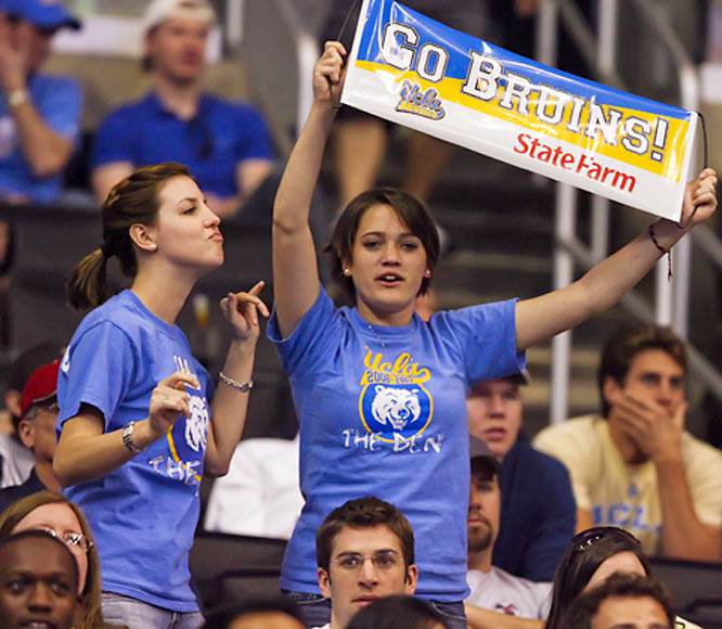 UCLA fans show some love for State Farm and the  Bruins.
