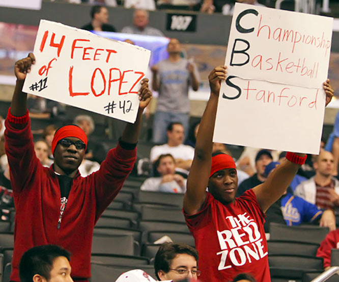 Stanford fans show their love and admiration for the Lopez twins.