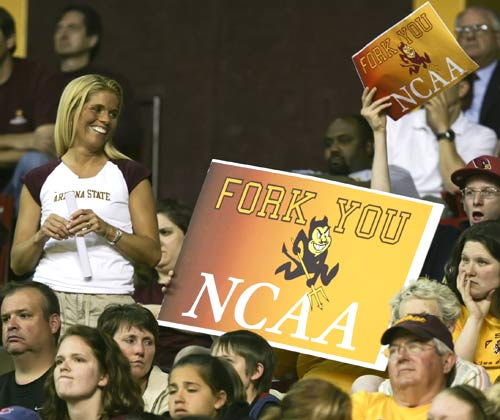 Arizona State fans let the NCAA Selection Committee know what they think of their performance this year.