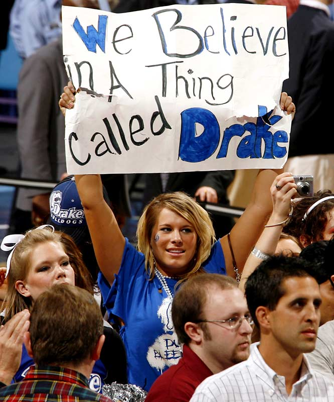 "We don't blame this fan for believing in a ""Thing called Drake."" After all, the Bulldogs are currently No. 16 in the nation."
