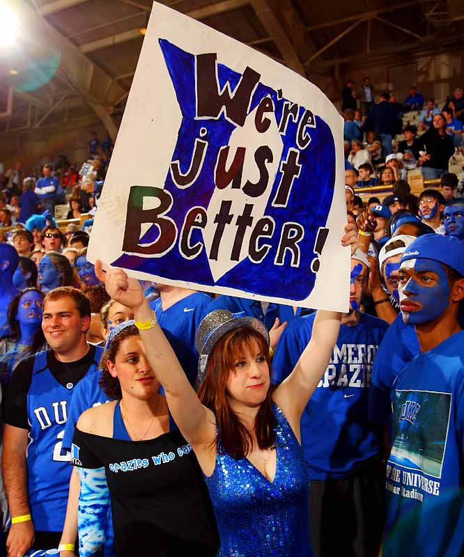 As it turns out, Duke wasn't better against North Carolina, losing to the Tar Heels 76-68 in a battle to crown the ACC champions.