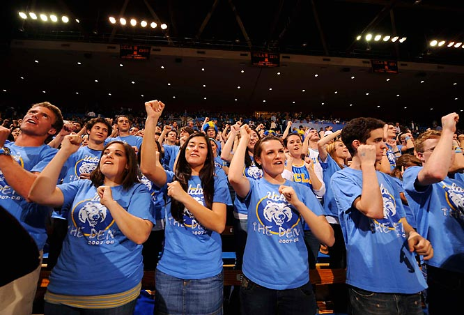UCLA fans cheer on the Bruins during last Saturday's controversial victory over Stanford.