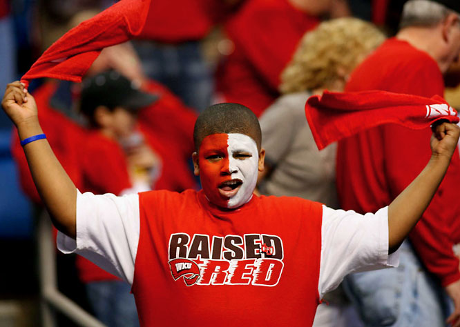 This Western Kentucky fan was raised red.