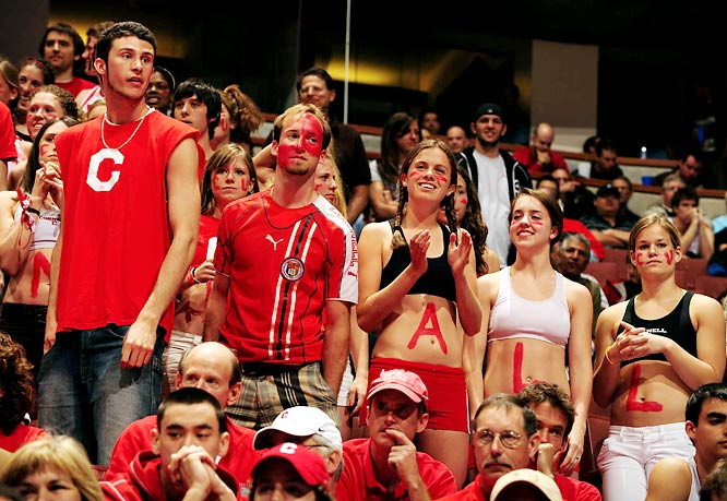 Cornell fans were just happy to see their team in the NCAA tournament after a 20-year absence.