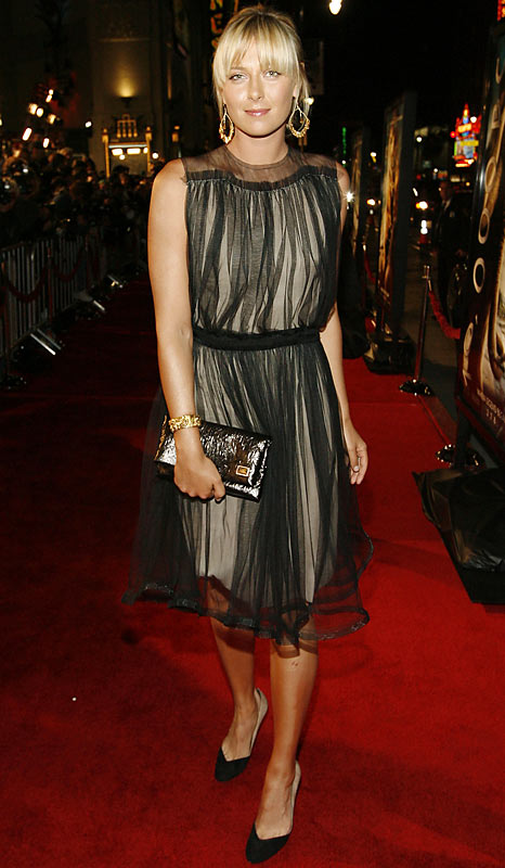 "Maria Sharapova walked the red carpet at the premiere of ""10,000 BC"" in Los Angeles on Wednesday."