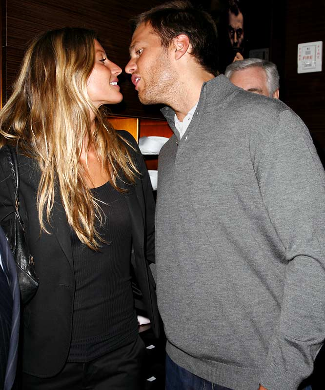 Tom Brady, shown here in New York City Tuesday night, looks to be getting over that Super Bowl defeat just fine.