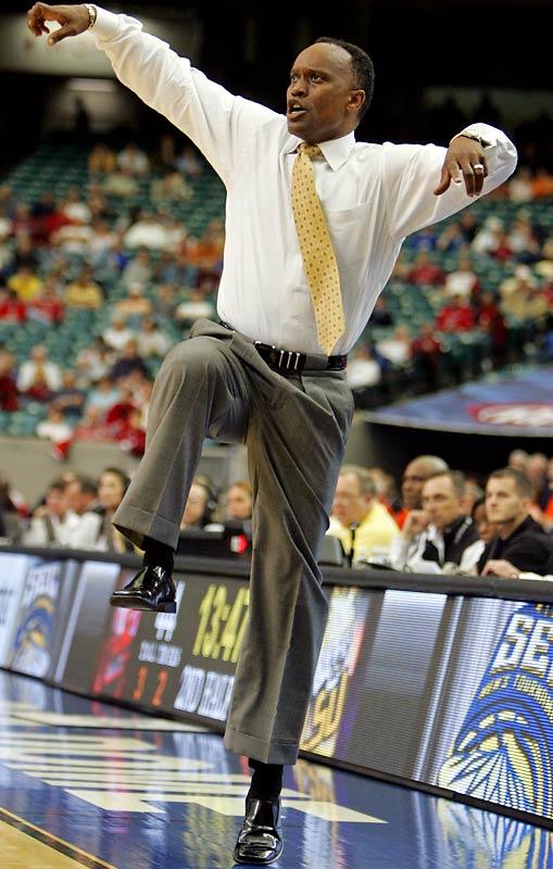 """LSU interim coach Butch Pierre must be a big """"Karate Kid"""" fan."""
