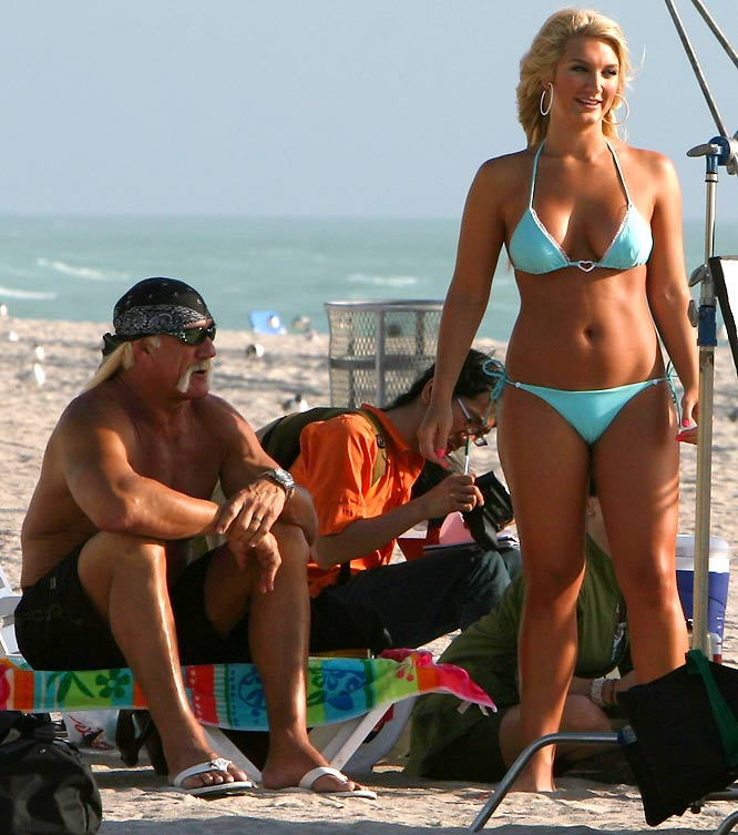"Hulk Hogan and daughter Brooke took a break from a recent family controversy to shoot a scene for the VH-1 ""reality"" show, 'Brooke Knows Best' on Thursday"
