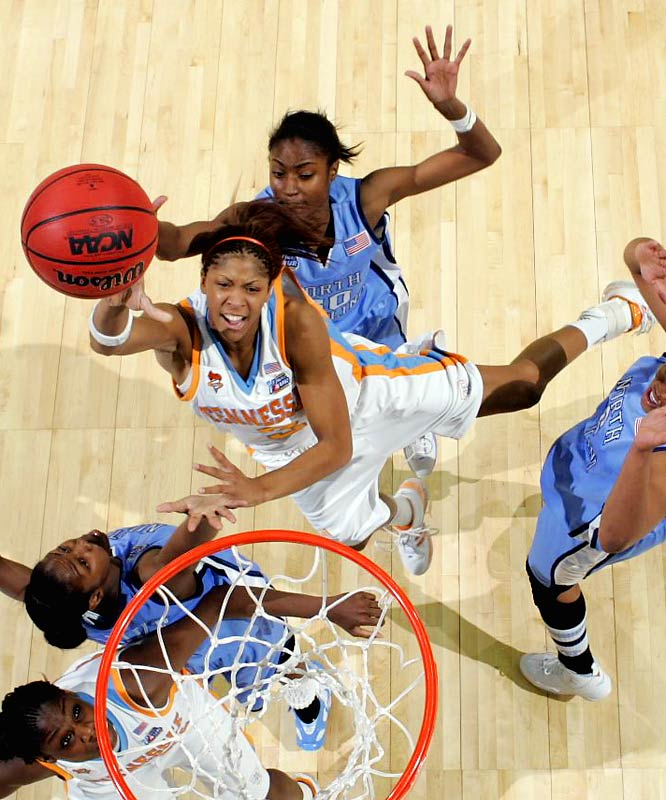 While the Vols can rebuild, losing Candace Parker after this season will be a huge blow -- the guard/forward/center is leading the Lady Vols with 20 points and eight rebounds per game.