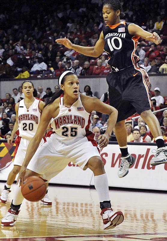 Tough to find a place behind two first-team all ACC players?  Junior Marissa Coleman proved a key threat on the second-ranked Terps, putting up 15 points and seven rebounds per game.