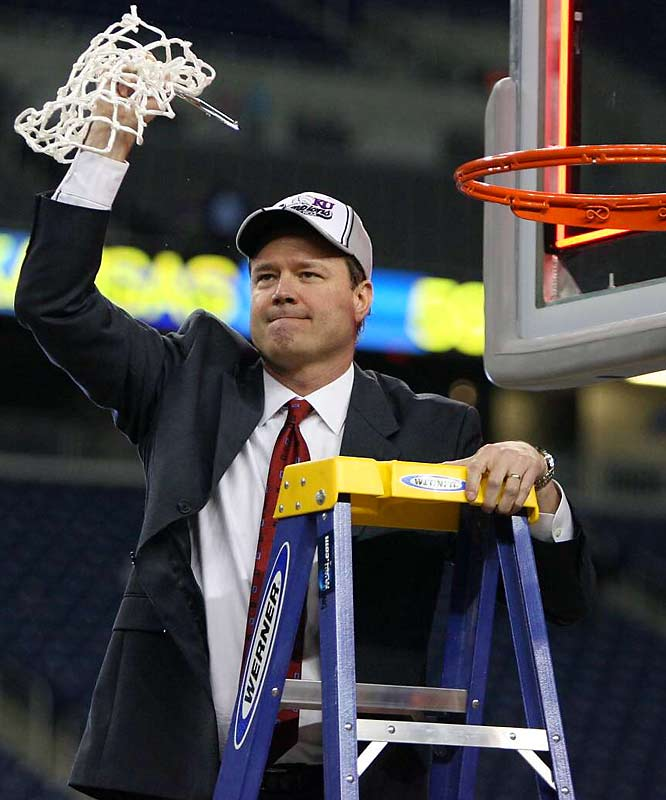 When a last-second three-point heave went wide, Kansas coach Bill Self looked relieved. After four runs that ended in the Elite Eight, he finally earned a spot in the Final Four.