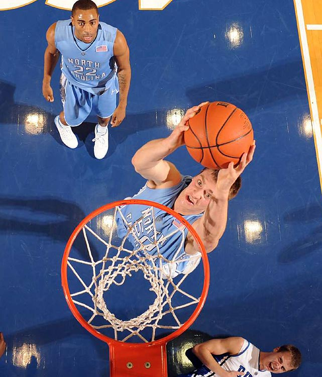 By blowing out the Blue Devils in Cameron Indoor Stadium, Tar Heels seniors Tyler Hansbrough and Danny Green finished their careers with a perfect 4-0 mark in the hostile arena. North Carolina became the first team in nine years to reach triple digits against Duke.