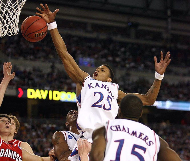 Brandon Rush scored 12 points to not only help Kansas advance to the Final Four, but end Davidson's 25-game win streak.