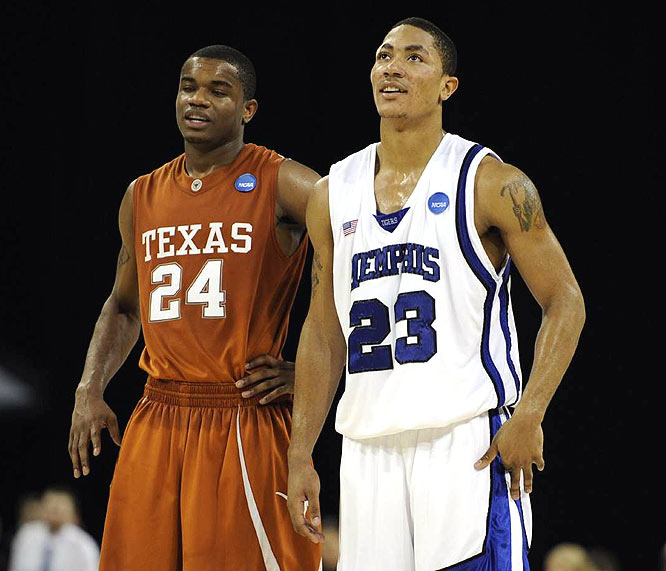 Derrick Rose, who scored 21 points and was named the South Regional's Most Outstanding Player, led Memphis to its first trip to the Final Four since 1985.