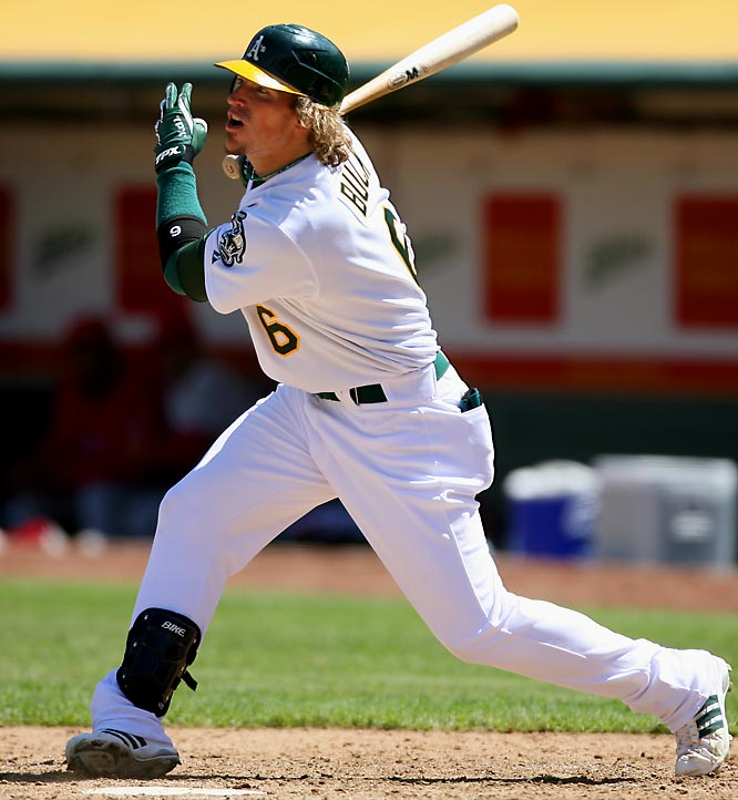 Buck already has established himself as a big league starting outfielder with the Oakland A's after batting .288 with a .377 on-base percentage in 82 games last season.