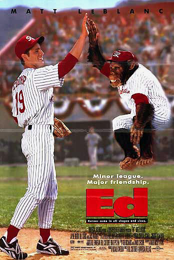 "The only thing less plausible than a chimp playing Minor League Baseball is Matt LeBlanc having the ability to throw 125 miles per hour. Although ""Ed"" was one of the worst films ever made -- but arguably not the worst movie ever made by a star of ""Friends"" -- putting a chimp on the field is a guaranteed way for a struggling franchise to put people in the seats."