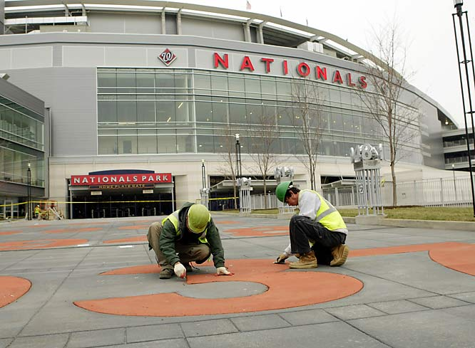 Construction workers were busy making final adjustments in the days leading to the opening.