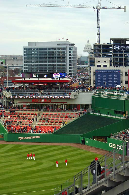 Located in the heart of Washington, D.C., the new ballpark offers fans in the upper deck a view of the Capitol Building.