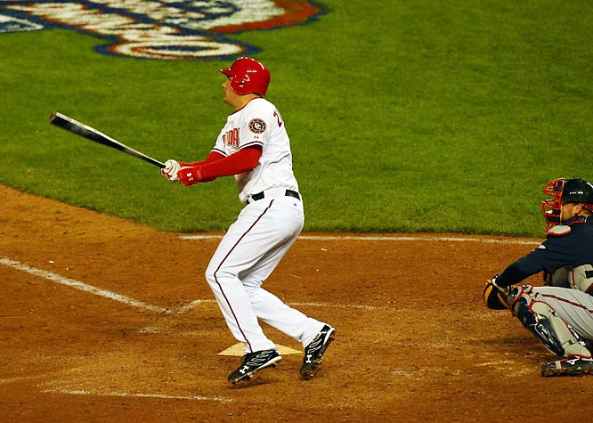 Ryan Zimmerman launches a solo home run in the bottom of the ninth to lift the Nats over the Braves, 3-2.