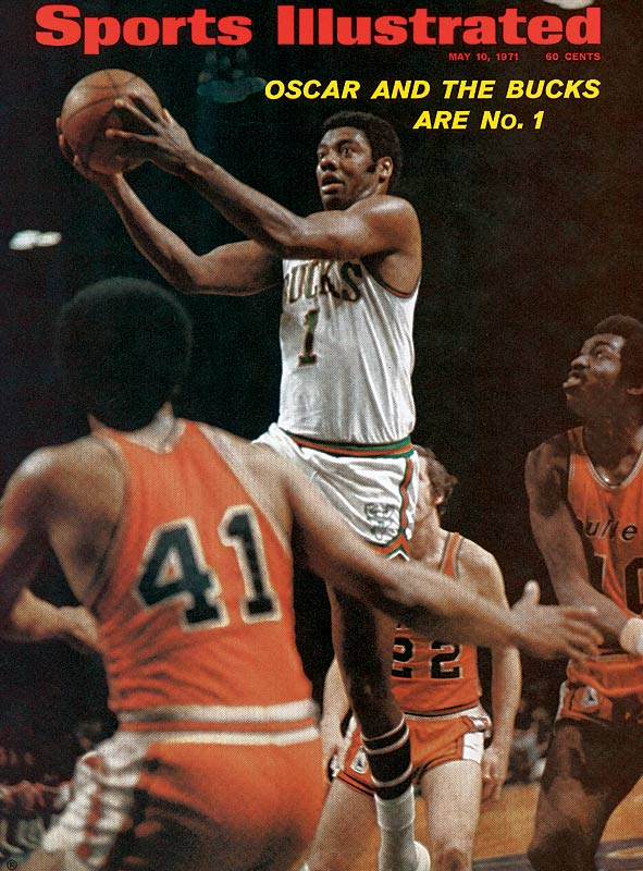 Before the Lakers won 33 in a row, the Bucks held the NBA record thanks in large part to second-year center Kareem Abdul-Jabbar (then named Lew Alcindor) and Oscar Robertson, who was acquired from the Cincinnati Royals before the 1970-71 season. Abdul-Jabbar averaged a league-leading 31.7 points in the regular season, and then claimed the first of his six NBA titles.