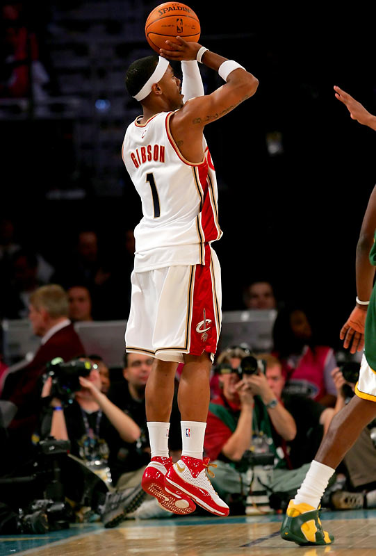 The 22-year-old guard seems to enjoy the national stage. He broke out with several big three-pointers as a rookie during the playoffs last season, and then -- in an admittedly more casual setting -- he made 11 treys in his MVP performance in the 2008 Rookie Challenge during All-Star weekend. Before being sidelined with a sprained ankle in late February, Gibson was shooting 47.6 percent from three-point range for the season.