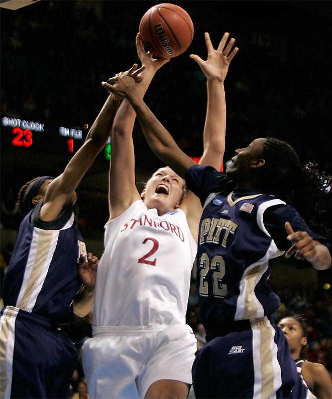 Jayne Appel led the Cardinal with 22 points in a win that sent Stanford to the finals of the Spokane Regional.