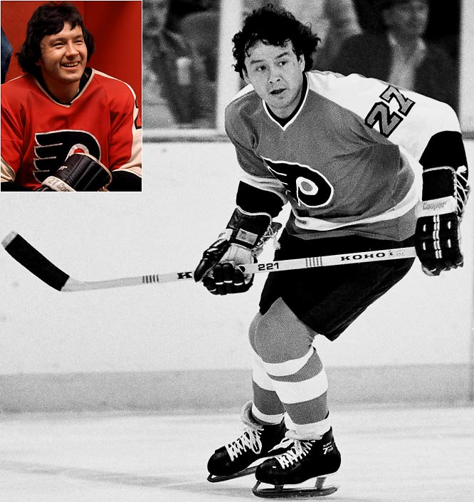 1975-76: <i>61</i> in 80 games <br><br>The right winger for the two-time defending Stanley Cup Champion Broadway Bullies became the second NHL player to score 60 goals when he tallied 61 in 1975-76.  The total was his career high, and he tacked on another 19 in 16 playoff games that spring.