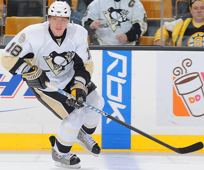The most significant deadline day addition, Hossa (26 goals, 56 points) was immediately sidelined after tweaking his knee in his Penguins debut. Once he returns he'll play on a line with Sidney Crosby and should give the rising, rapidly convalescing Pens a deadly triple threat with Hart candidate Evgeni Malkin.